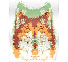 wolf tribal Poster
