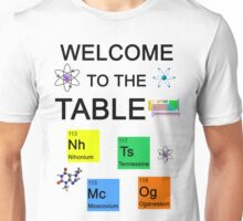 Periodic Table new elements: Nihonium, Tennessine, Moscovium, Oganesson Unisex T-Shirt