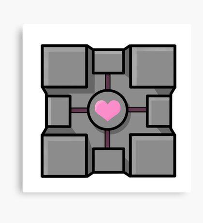 Companion cube Canvas Print