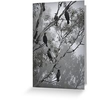Cormorants on a Foggy Day Greeting Card