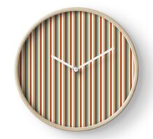 Multi Vertical Stripes in trendy colours Clock