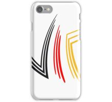 flagge deutschland germany cool vip logo design striche linien muster very important person  iPhone Case/Skin