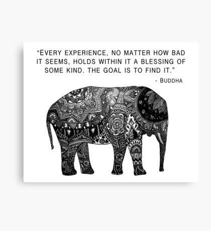 Buddha Wisdom Elephant Canvas Print