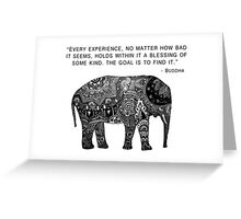Buddha Wisdom Elephant Greeting Card
