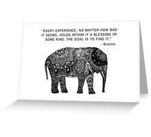 Buddha Wisdom Elephant Greeting Card