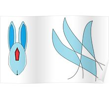 Abstract Emerald Carbuncle Poster