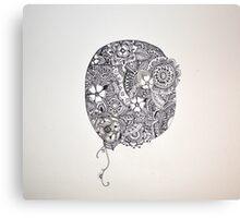 Henna Circle Canvas Print