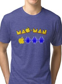 Mac-Man Android Ghost Chase Mashup Tri-blend T-Shirt
