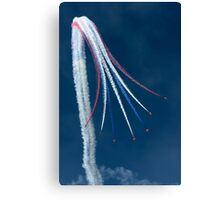 Red Arrows - Vertical Break Canvas Print
