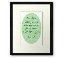 Audre Lorde Freedom and Shackles Framed Print