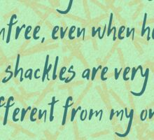 Audre Lorde Freedom and Shackles Sticker