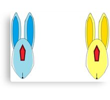 Abstract Emerald and Topaz Carbuncle Heads Canvas Print