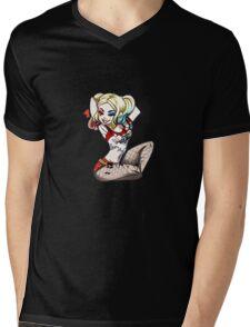 Harley Quinn Mens V-Neck T-Shirt