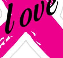 Love Pink Ribbon Sticker
