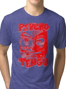 Psycho Tengu - Red/White Tri-blend T-Shirt