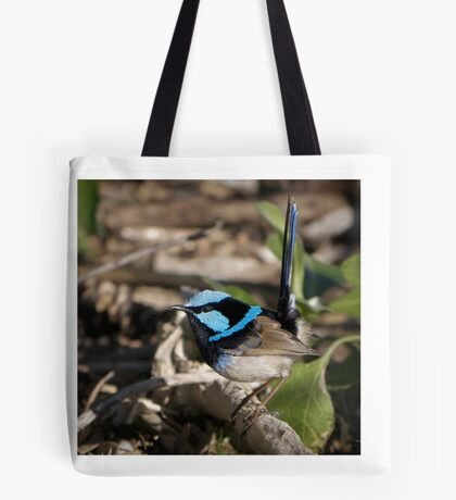 Male Variagated blue wren Tote Bag
