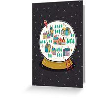 Christmas snow globe  Greeting Card
