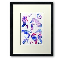 Purple Seahorses Framed Print