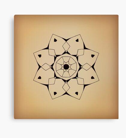 Mandala #206 || Tan Canvas Print