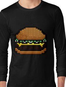 8-bit cheeseburger sprite Long Sleeve T-Shirt