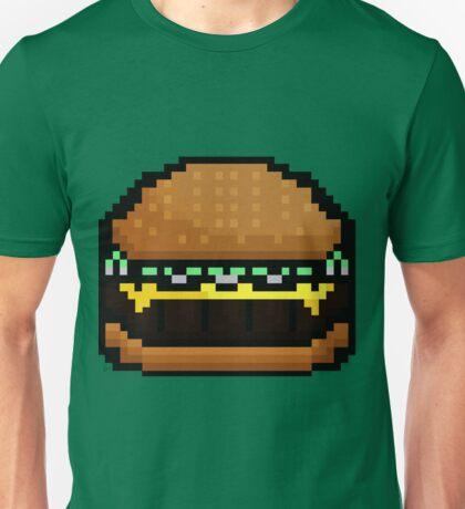 8-bit cheeseburger sprite Unisex T-Shirt