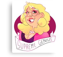 the office of supreme genius  Canvas Print