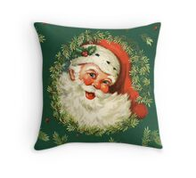 Vintage, Jolly Santa Claus Throw Pillow