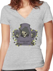 Fragment Reaper Women's Fitted V-Neck T-Shirt