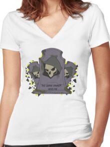 Fragment Reaper Women's Fitted V-Neck T-Shirt