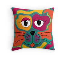 Colorful cat 2 Throw Pillow