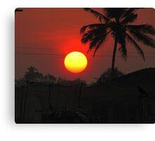Sunrise/sunset Canvas Print