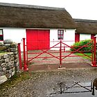 Thatched Cottage with Red Doors by Shulie1