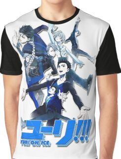 yuri!!! on ice (group version//blue) Graphic T-Shirt
