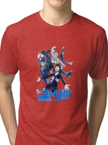 yuri!!! on ice (group version//blue) Tri-blend T-Shirt