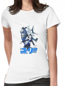 yuri!!! on ice (group version//blue) Womens Fitted T-Shirt