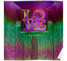 ART DECO LOVE Poster