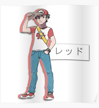 pokémon trainer red Poster