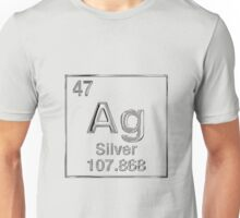 Periodic Table of Elements - Silver (Ag) Unisex T-Shirt