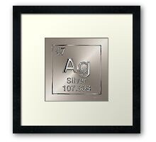 Periodic Table of Elements - Silver (Ag) Framed Print