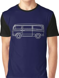 VW T3 Bus Blueprint Graphic T-Shirt