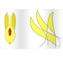 Abstract Topaz Carbuncle Poster