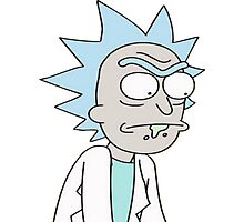 Rick from Rick and Morty Photographic Print