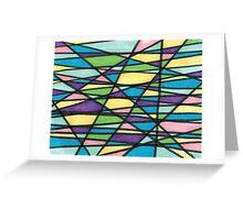 Color Mashup Design Greeting Card
