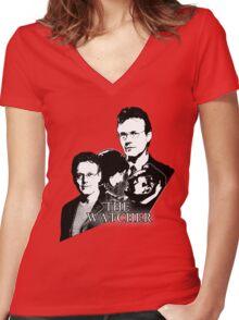 RUPERT GILES: The Watcher Women's Fitted V-Neck T-Shirt