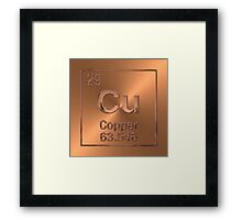 Periodic Table of Elements - Copper (Cu)  Framed Print