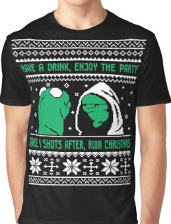 Funny Kermit Ugly Christmas Sweater Graphic T-Shirt