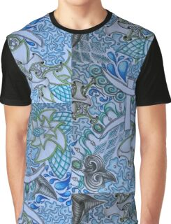 Pisces Doodled (vertical) Graphic T-Shirt
