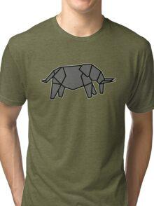 origami éléphant elephant Tri-blend T-Shirt