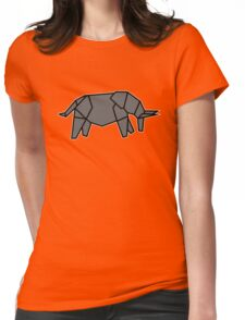 origami éléphant elephant Womens Fitted T-Shirt