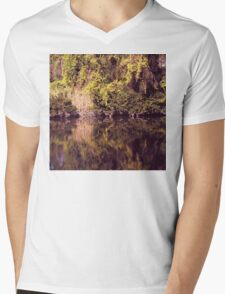 Magical river reflections Mens V-Neck T-Shirt